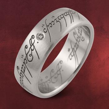 Herr der Ringe - Ring Weissgold mit Diamant