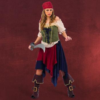 Piratin Komplettkostüm