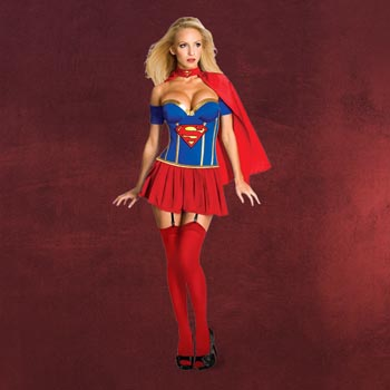Supergirl Korsett Damenkostüm