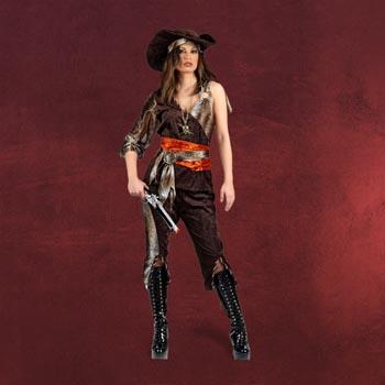 Piratin - Komplettkostüm für Damen