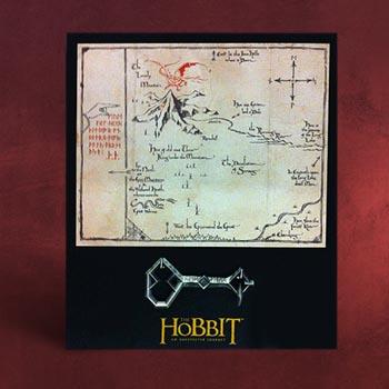 Der Hobbit - Thorins Karte mit Schlüssel - Wand...