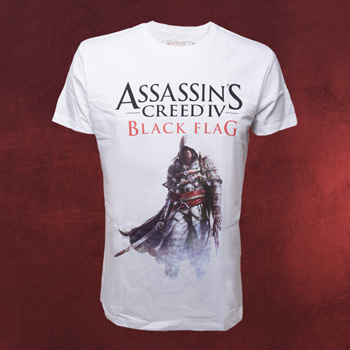Assassins Creed IV - Edward Kenway T-Shirt weiß