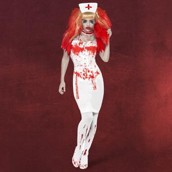 Blutige Krankenschwester Kostüm Damen