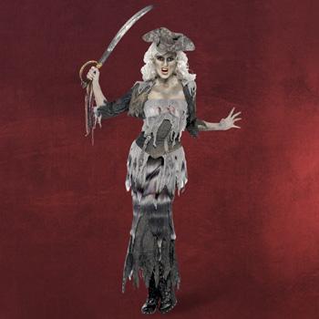 Zombie Piratin Kostüm Damen