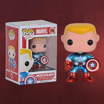 Captain America - Unmaskierte Wackelkopf-Figur (exklusiv)