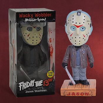 Freitag der 13. - Jason Voorhees Glow in the Dark Wackelkopf Figur exklusiv