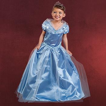 Cinderella Prinzessin Kleid blau - Kostüm Kinder