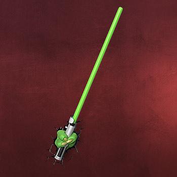 Star Wars - Yoda Lichtschwert 3D LED Wandlicht
