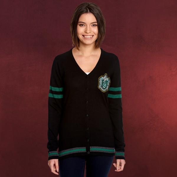Harry Potter - Slytherin Wappen Cardigan Damen