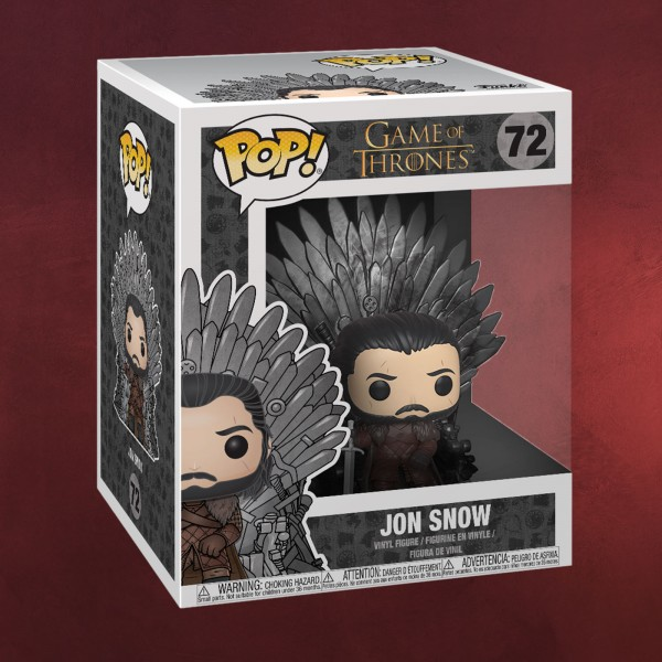Game of Thrones - Jon Snow mit Eisernem Thron Funko Pop Figur