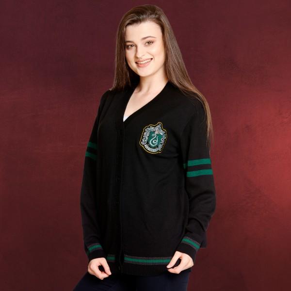 Harry Potter - Slytherin Cardigan mit Wappen