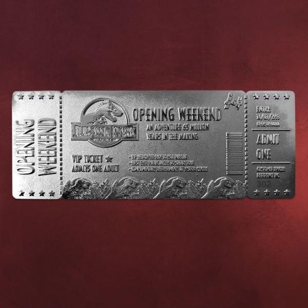 Jurassic Park - Silber Opening Weekend VIP Ticket Replik limitiert