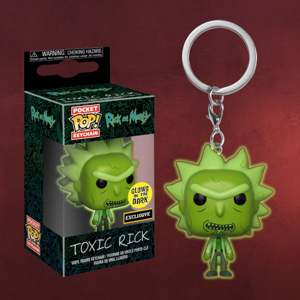 Rick and Morty - Toxic Rick Funko Pop Glow in the Dark Schlüsselanhänger
