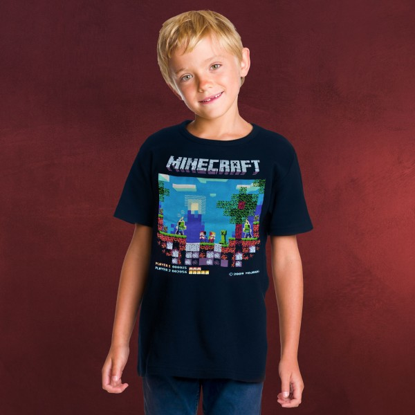 Minecraft - Brawler Retro T-Shirt Kinder blau