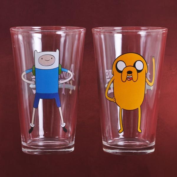 Adventure Time - Jake und Finn 2er Gläser-Set XXL