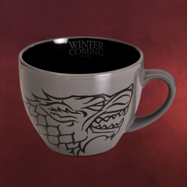 Game of Thrones - House Stark Tasse mit Schablone