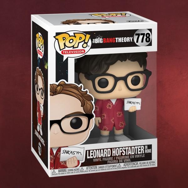 Big Bang Theory - Leonard Hofstadter mit Sarkasmus Schild Funko Pop Figur
