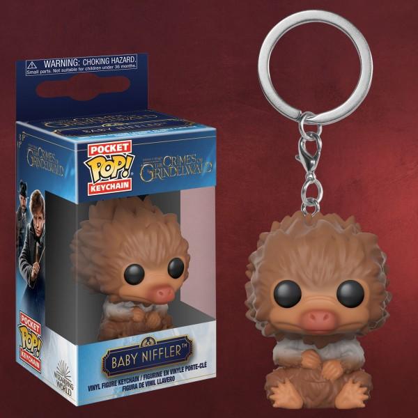 Baby Niffler braun-weiß Funko Pop Schlüsselanhänger - Phantastische Tierwesen