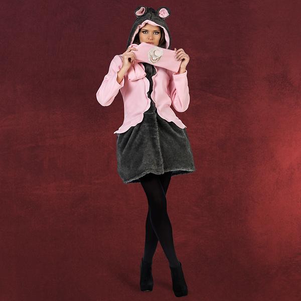 Maus Mantel mit Schal Damenkostüm