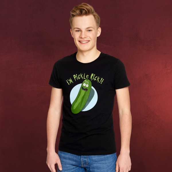 Rick and Morty - Pickle Rick T-Shirt schwarz