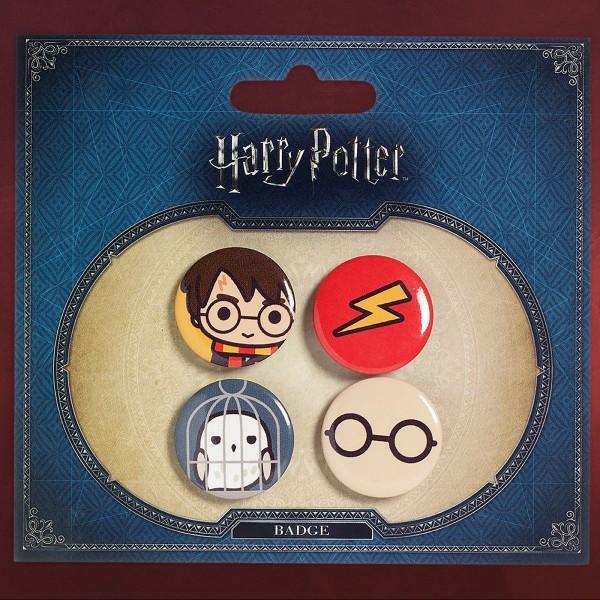 Harry Potter - Chibi 4er Button-Set