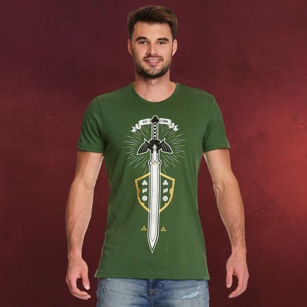 Zelda - Masterschwert T-Shirt grün