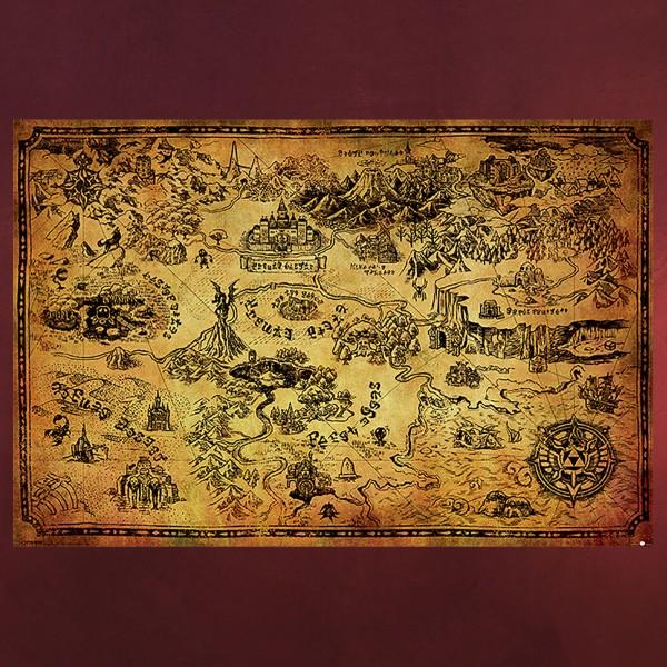 Zelda - Karte von Hyrule Maxi Poster