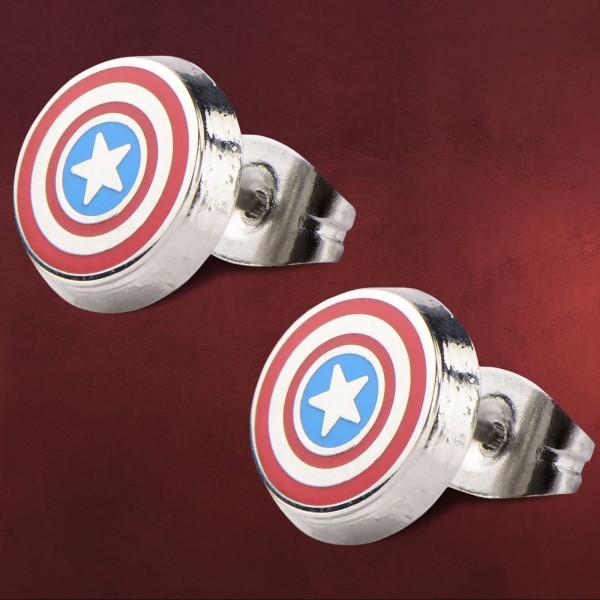 Captain America - Logo Shield Ohrstecker