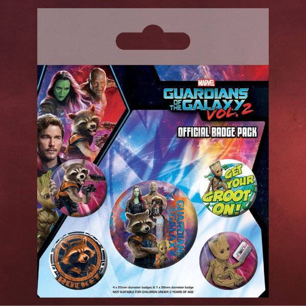 Guardians of the Galaxy - 5er Button-Set
