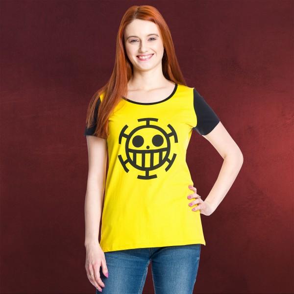 One Piece - Trafalgar Law Girlie Shirt gelb