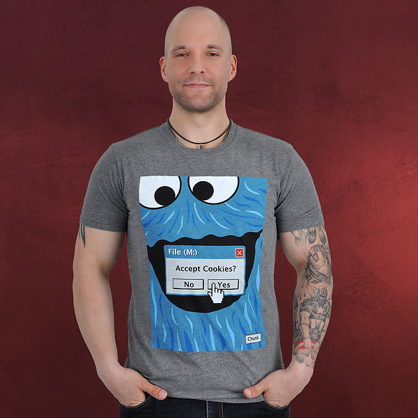 Browser Cookie Monster T-Shirt grau