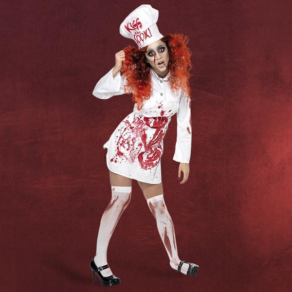 Zombie Köchin Kostüm Damen