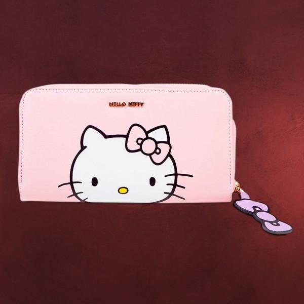 Hello Kitty - Logo Geldbörse rosa