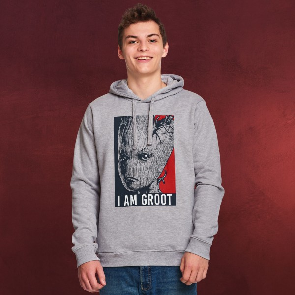 Guardians of the Galaxy - I Am Groot Hoodie grau