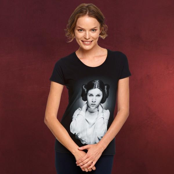 Star Wars - Leia Portrait T-Shirt Damen schwarz