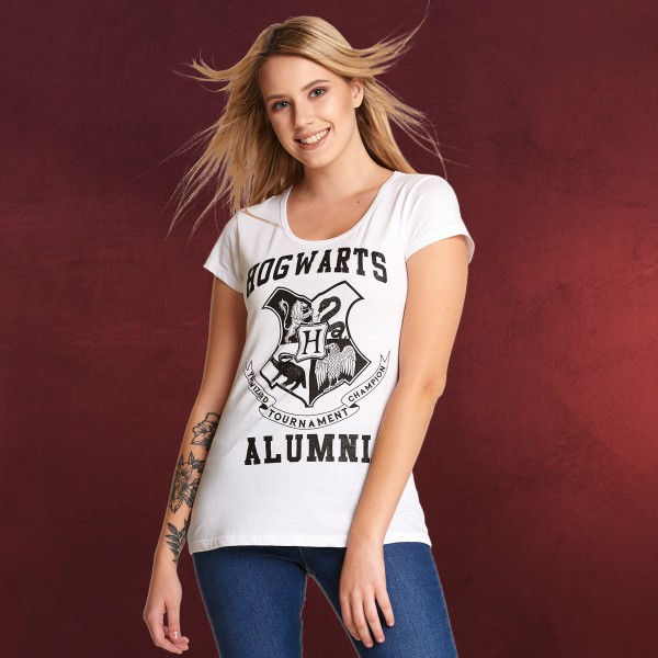 Harry Potter - Hogwarts Alumni T-Shirt Damen weiß