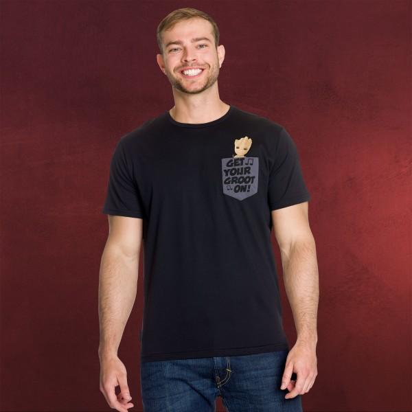 Guardians of the Galaxy - Groovy Groot T-Shirt schwarz