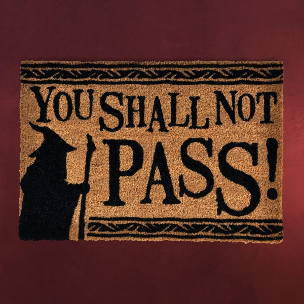 Herr der Ringe - You Shall Not Pass Fußmatte