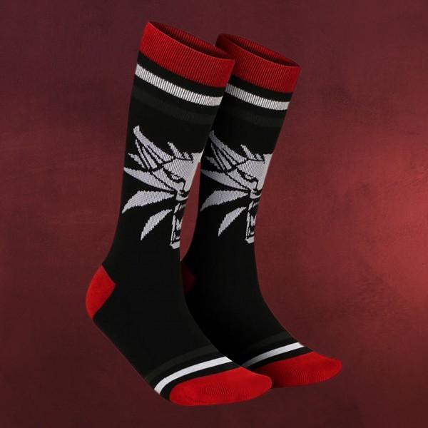 Witcher - White Wolf Medaillon Socken