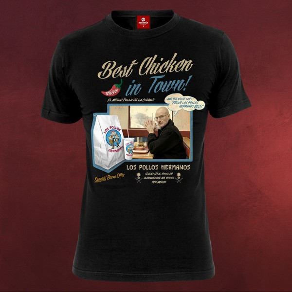 Breaking Bad - Los Pollos Hermanos Best Chicken T-Shirt schwarz