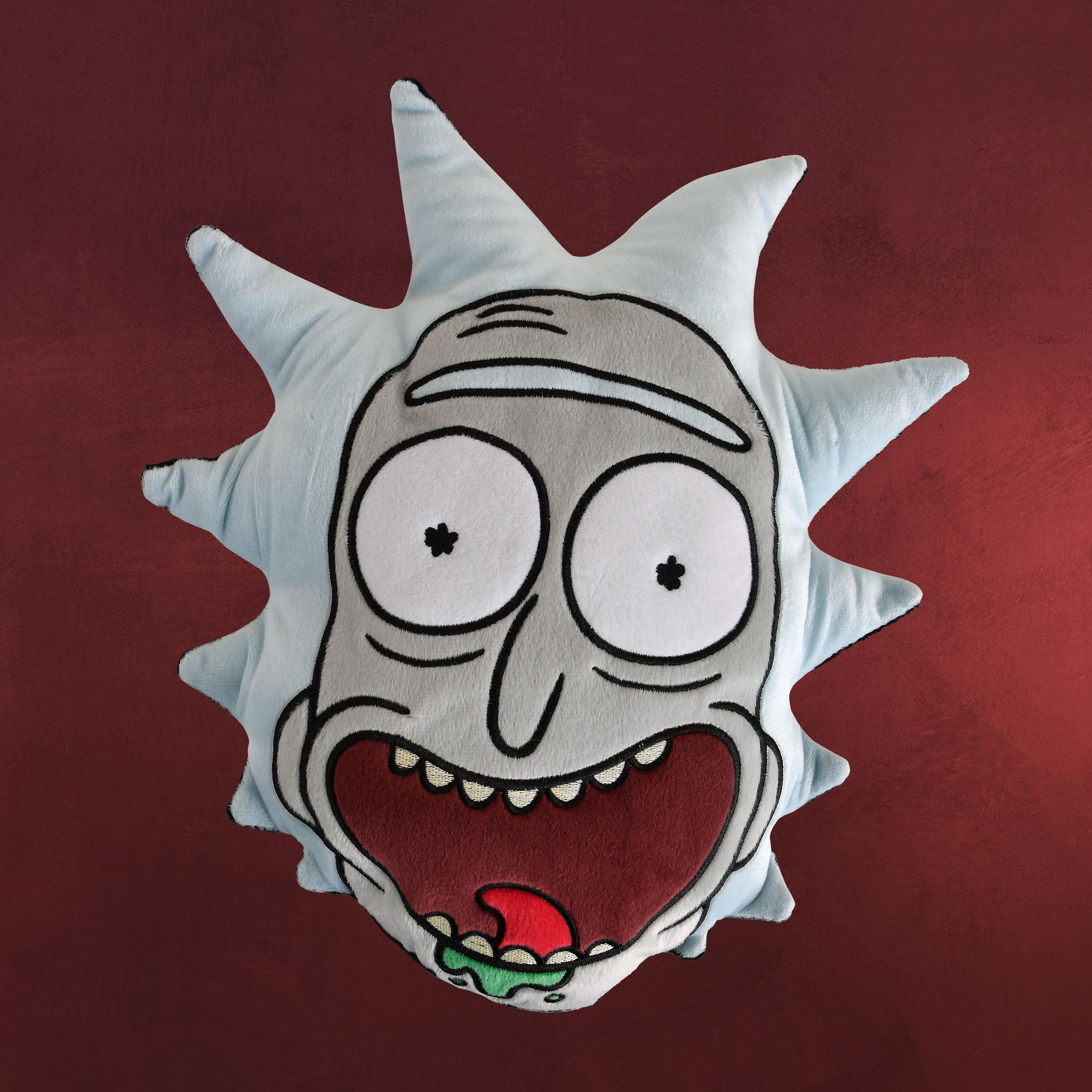 Rick And Morty Rick Face Kissen Elbenwald