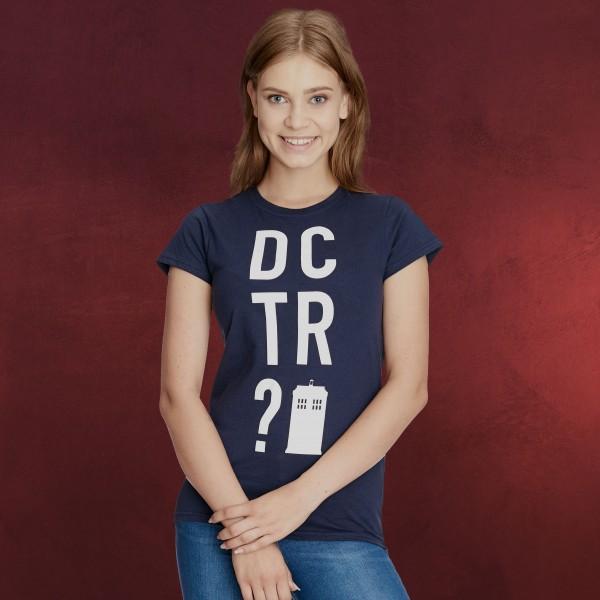 Doctor Who - DCTR T-Shirt Damen blau