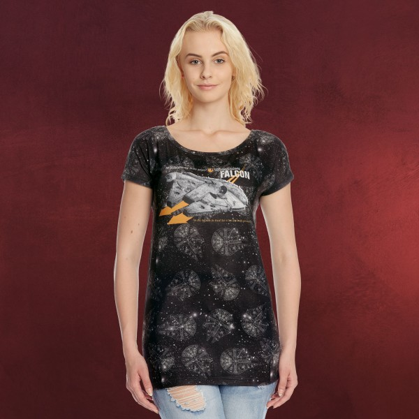 Star Wars - Millennium Falcon Girlie Shirt Loose Fit