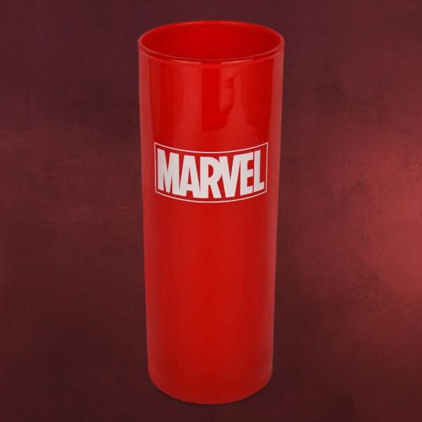 Marvel Logo Glas rot