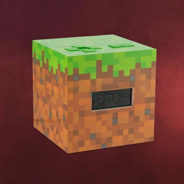 Minecraft - Grasblock Wecker mit Licht