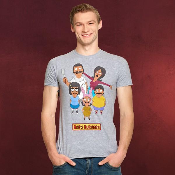 Bobs Burgers - Belcher Family T-Shirt grau