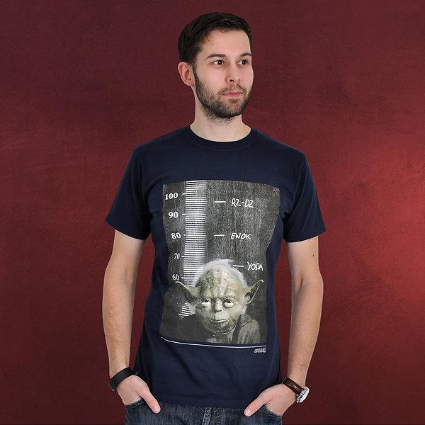 Star Wars - Yoda Height Chart T-Shirt blau