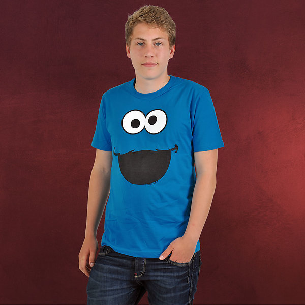 Sesamstraße - Cookie Monster Faces T-Shirt