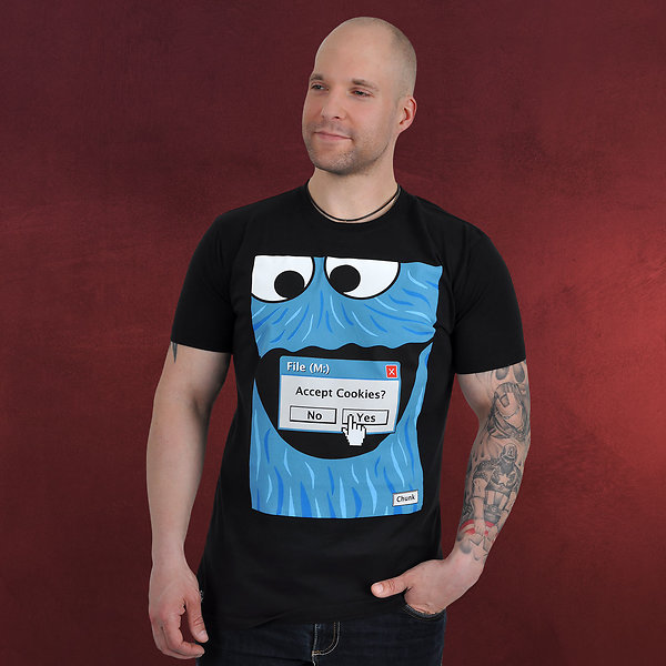 Browser Cookie Monster T-Shirt schwarz