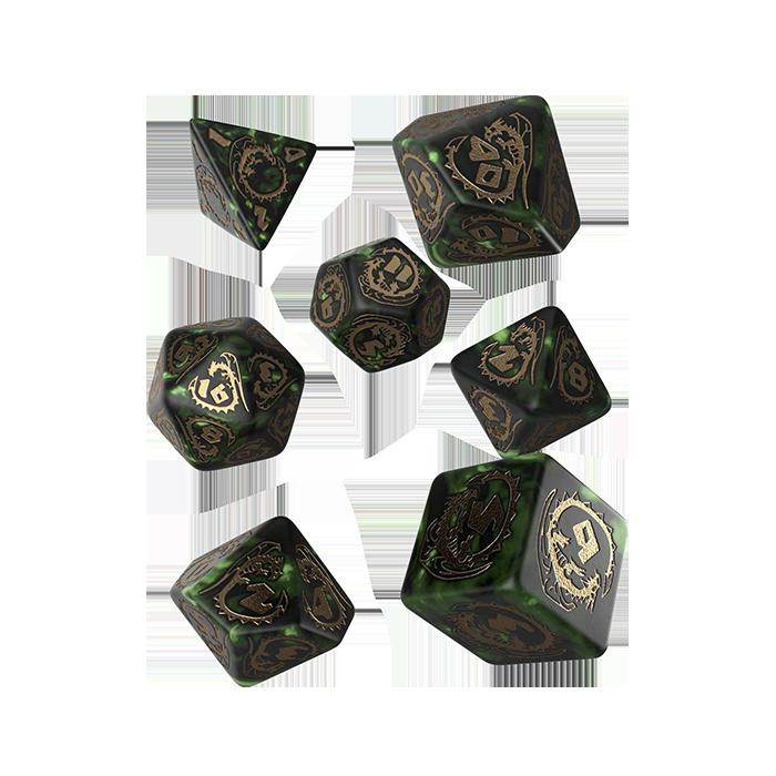 Dragons RPG Würfel Set 7tlg grün